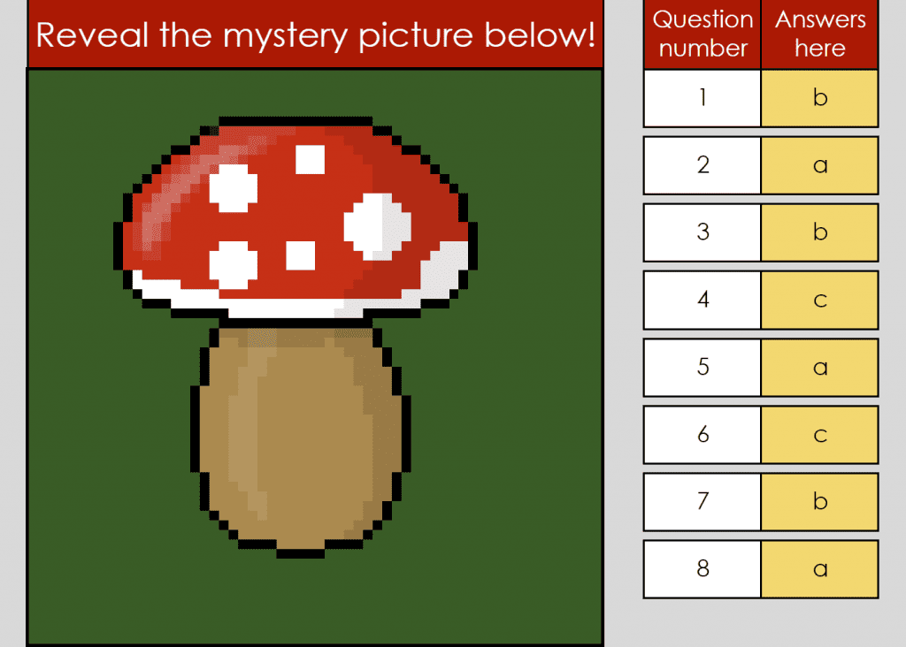 digital reading skills mystery picture