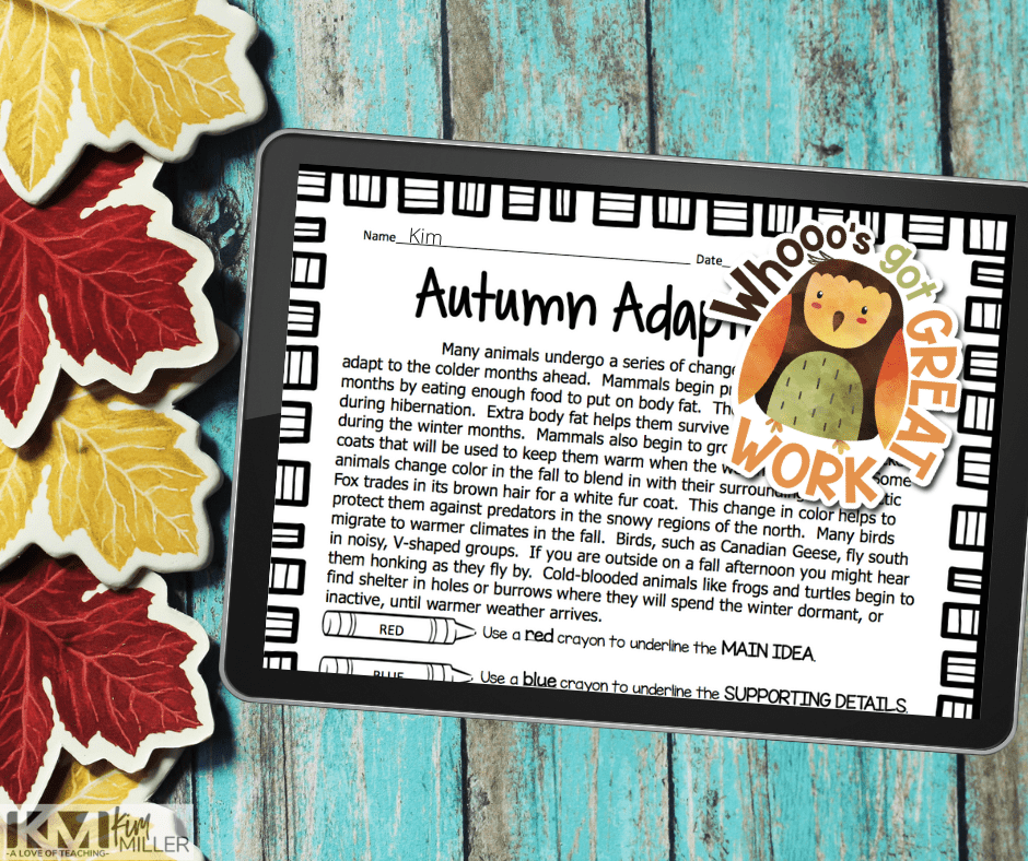 Fall Digital Stickers are a great way to add some fun to digital grading