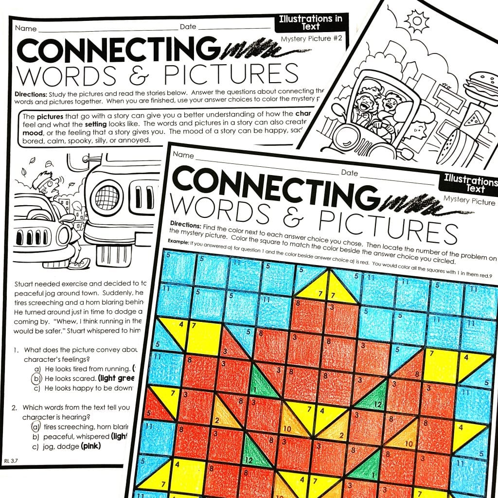 fall reading skills and strategies mystery picture activities