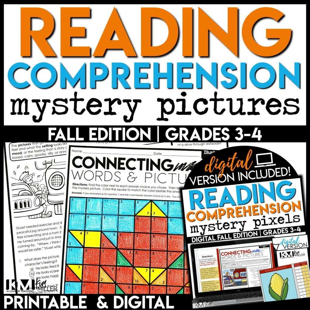 fall reading activities for 3rd and 4th grade
