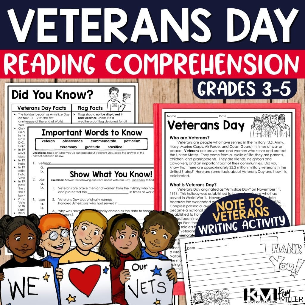 Veterans Day Reading Comprehension