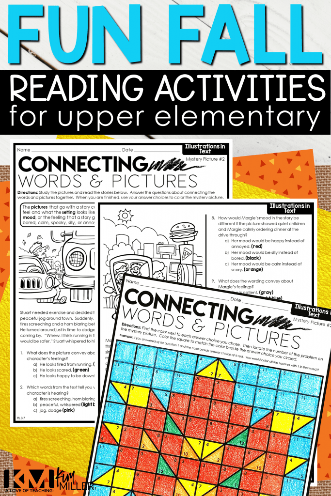 Fun Fall Reading Activities for Upper Elementary