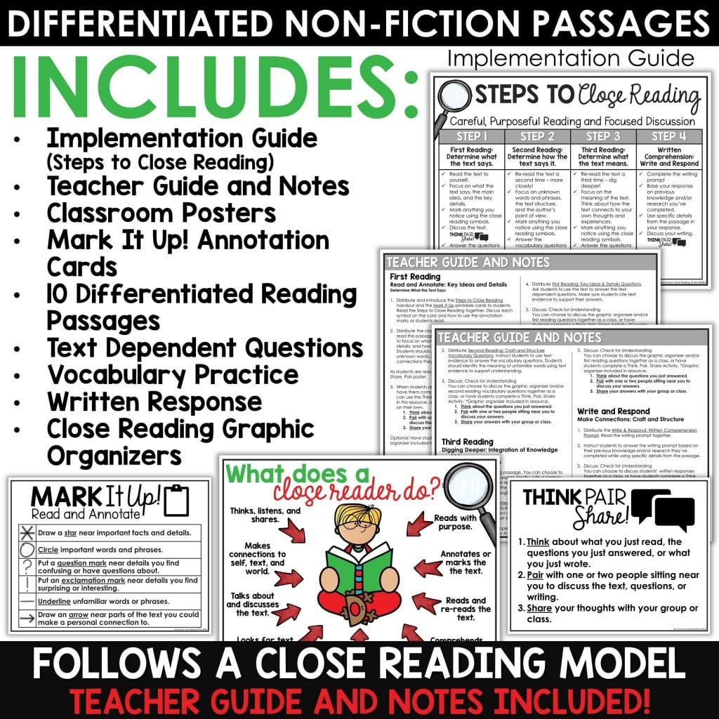 Close Reading Comprehension December Preview