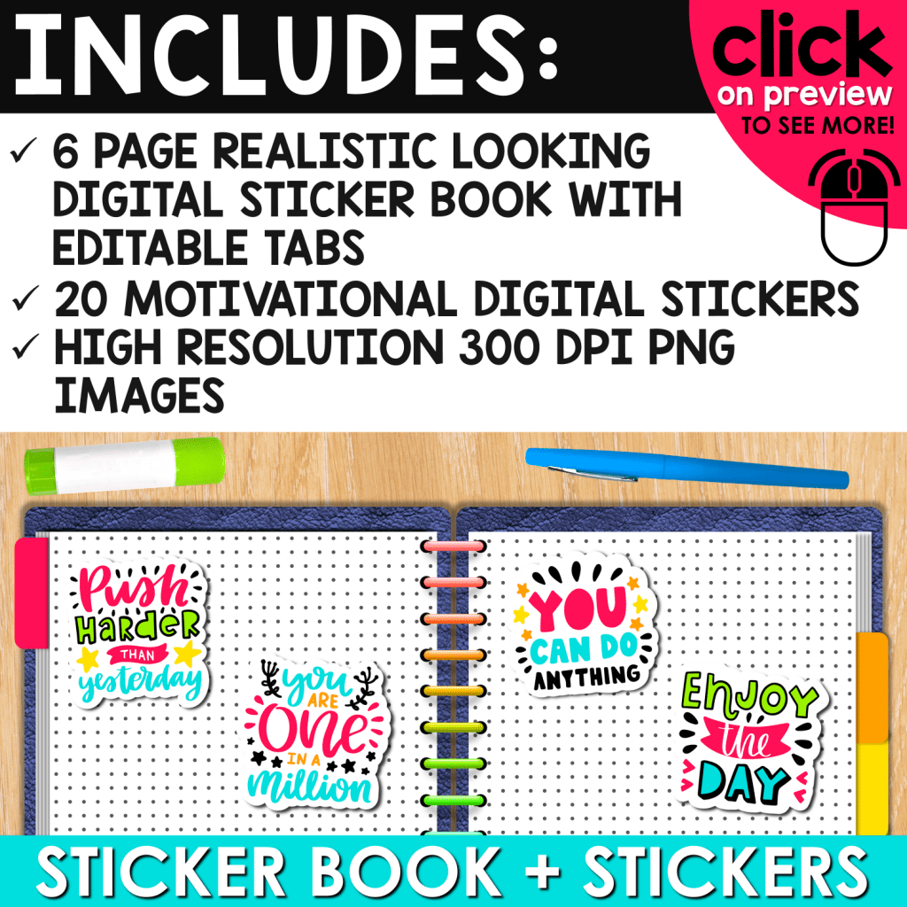 Digital Sticker Book for Students
