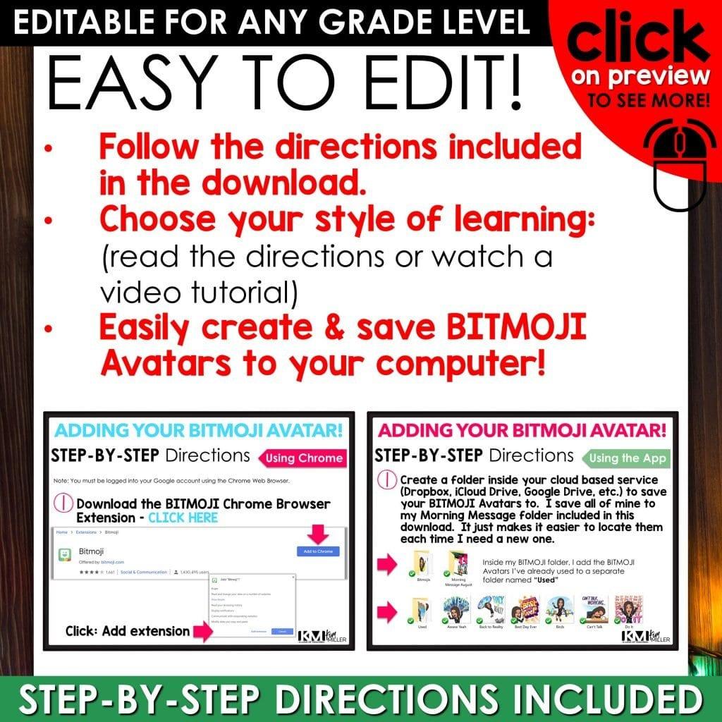 Bitmoji Morning Slides December Preview