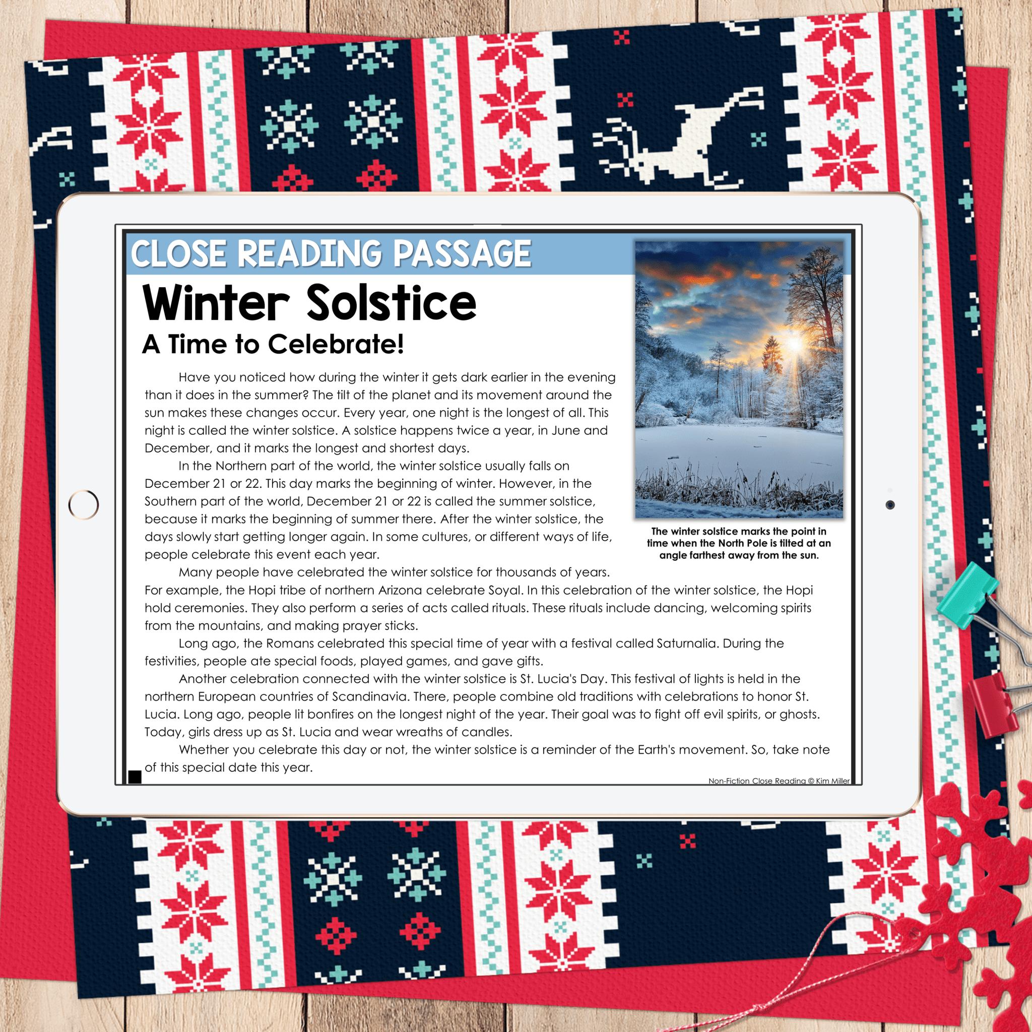December Close Reading Winter Solstice