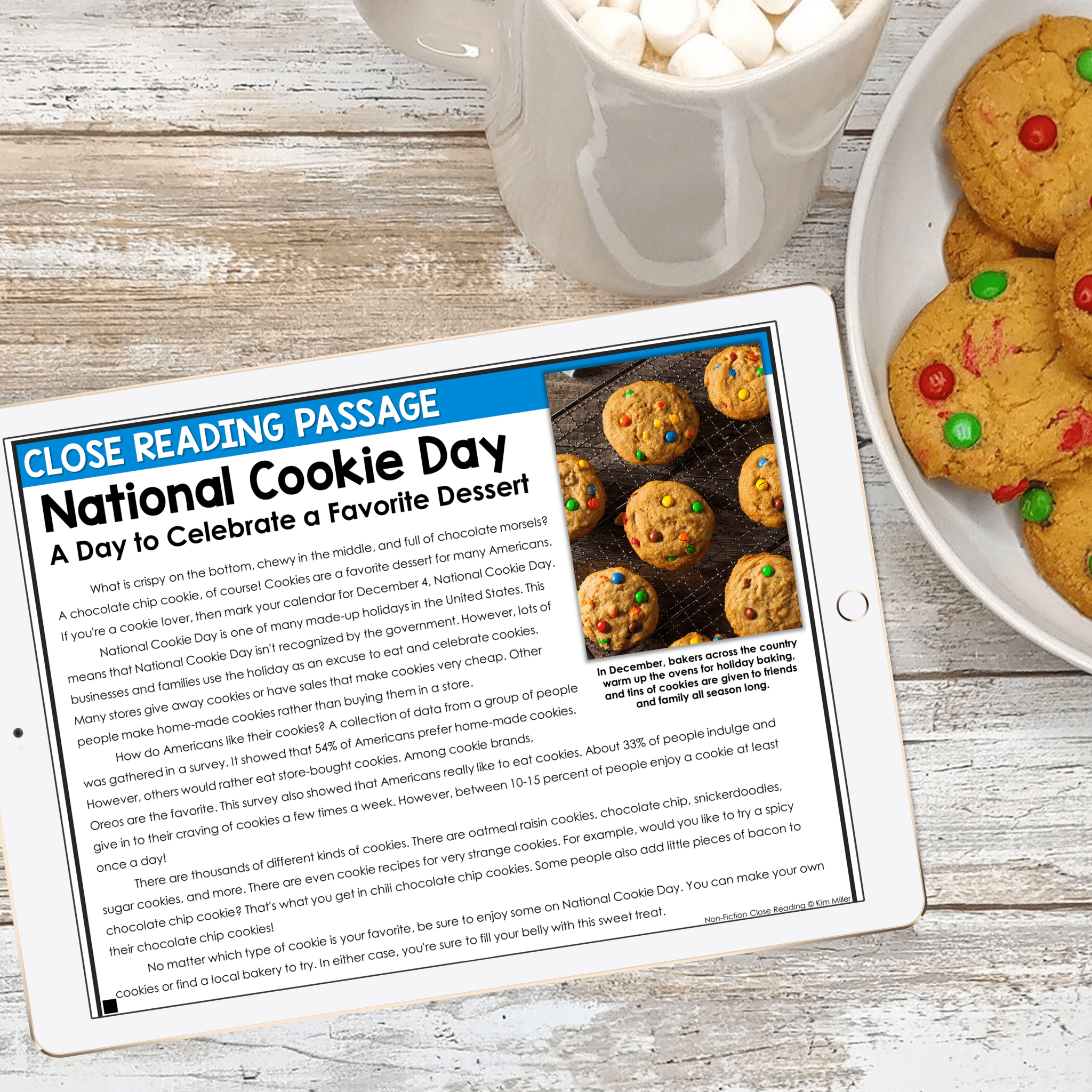 December Close Reading National Cookie Day