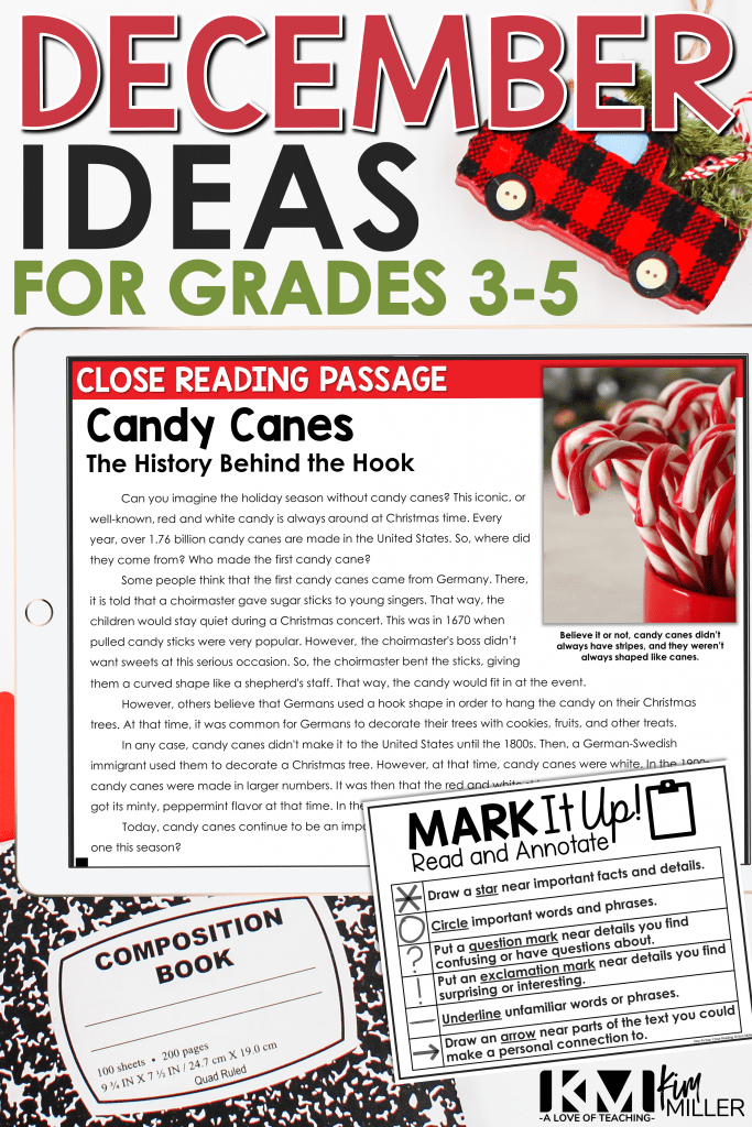 December Classroom Ideas for Upper Elementary