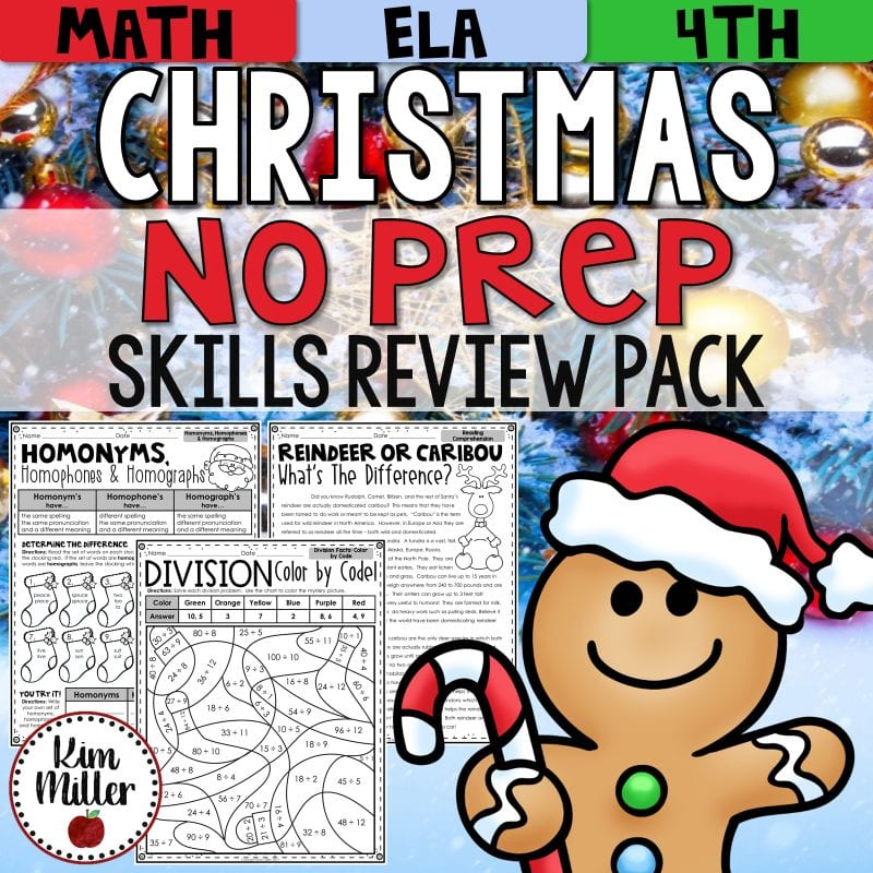 Christmas Reading and Math Activities