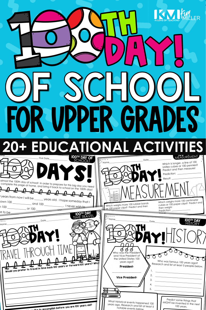 100th Day of School for Upper Grades