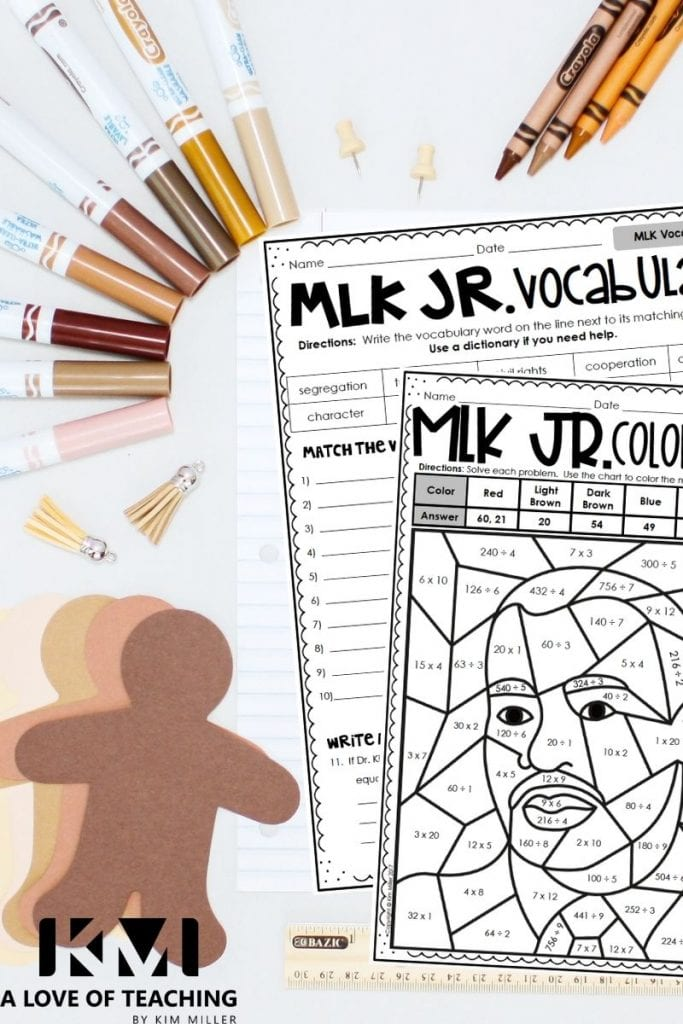 Martin Luther King Math and Language Arts Skills Review
