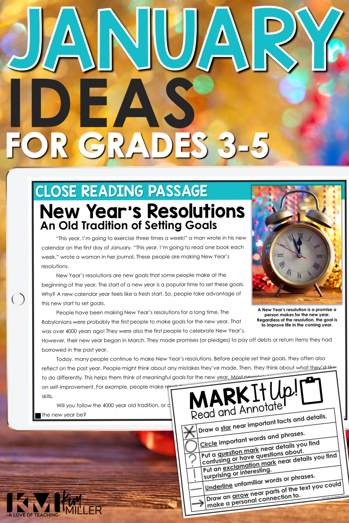 January Activities for Upper Grades