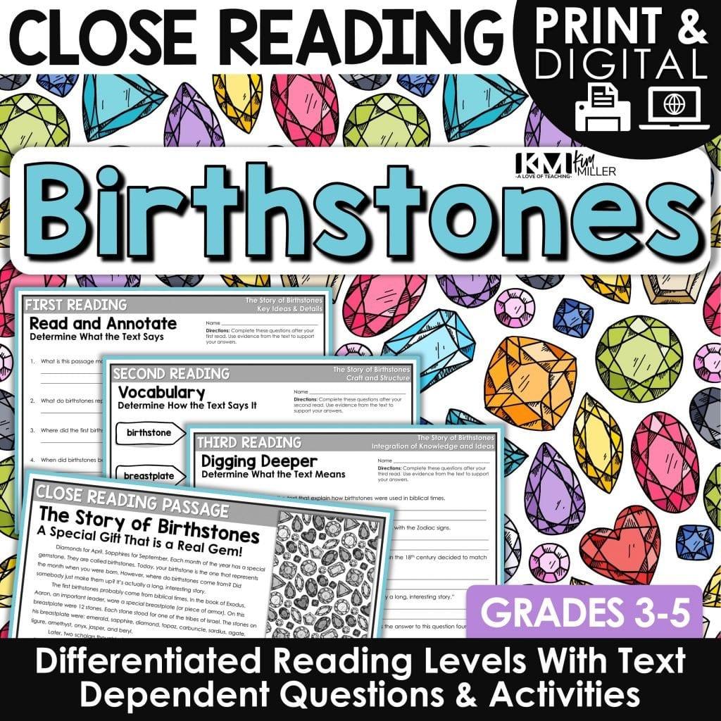 Birthstones Close Reading