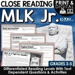 MLK Jr Close Reading