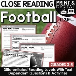 Football Close Reading