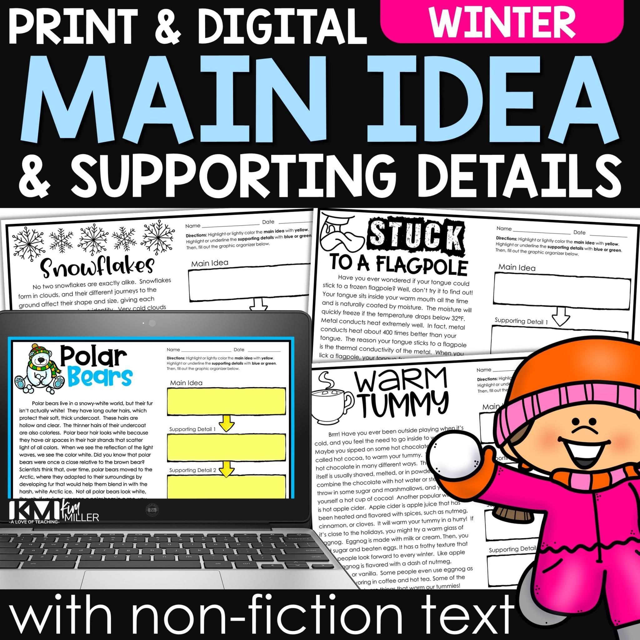 Winter Main Idea and Supporting Details with Non-Fiction Text