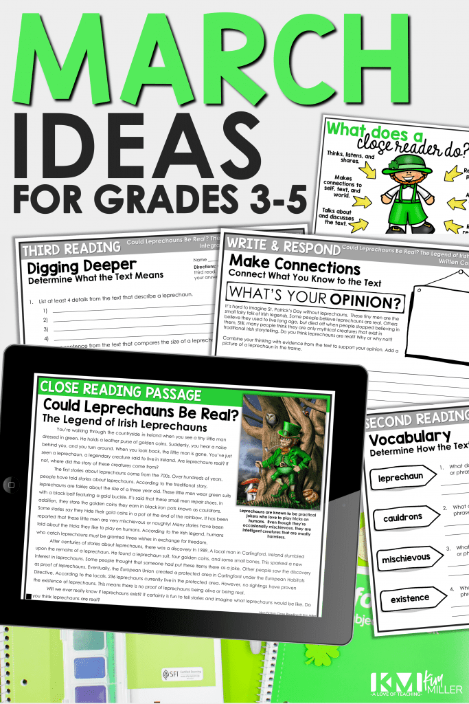 March Ideas for 3rd, 4th, 5th Grade