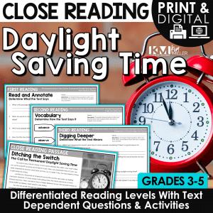 Daylight Saving Time Close Reading