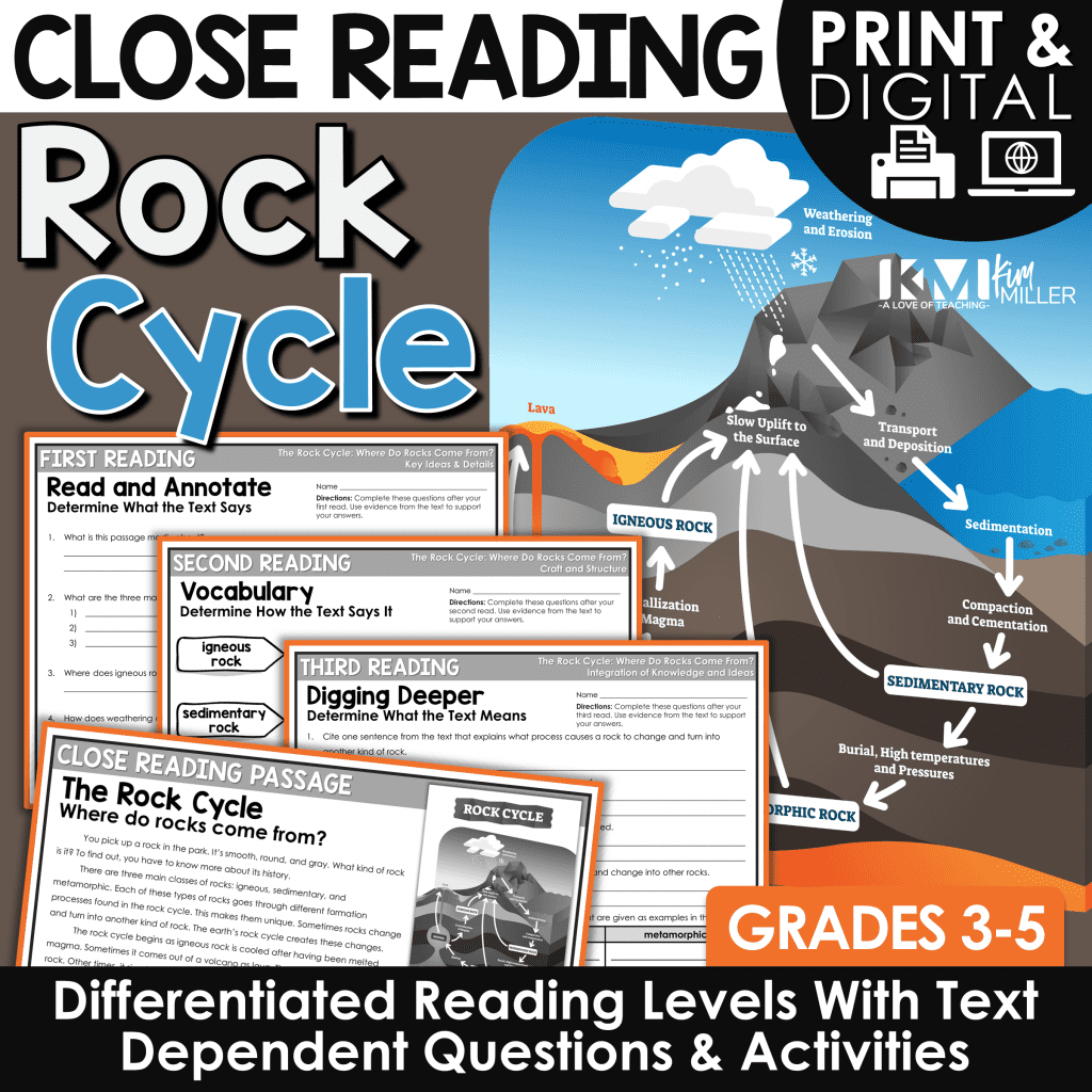 The Rock Cycle Close Reading