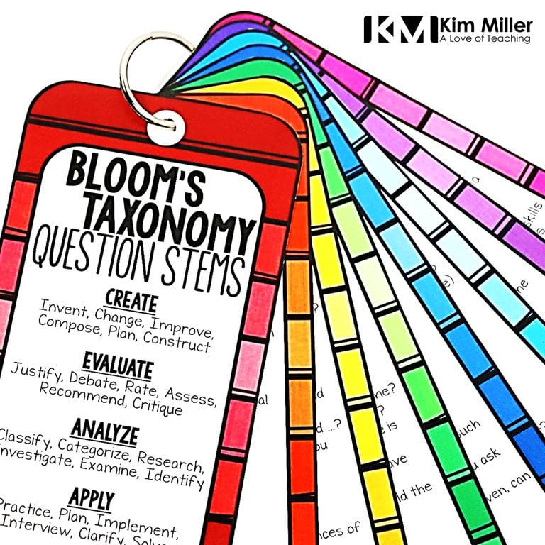 Bloom's Taxonomy questions stems a great addition to your teacher toolbox