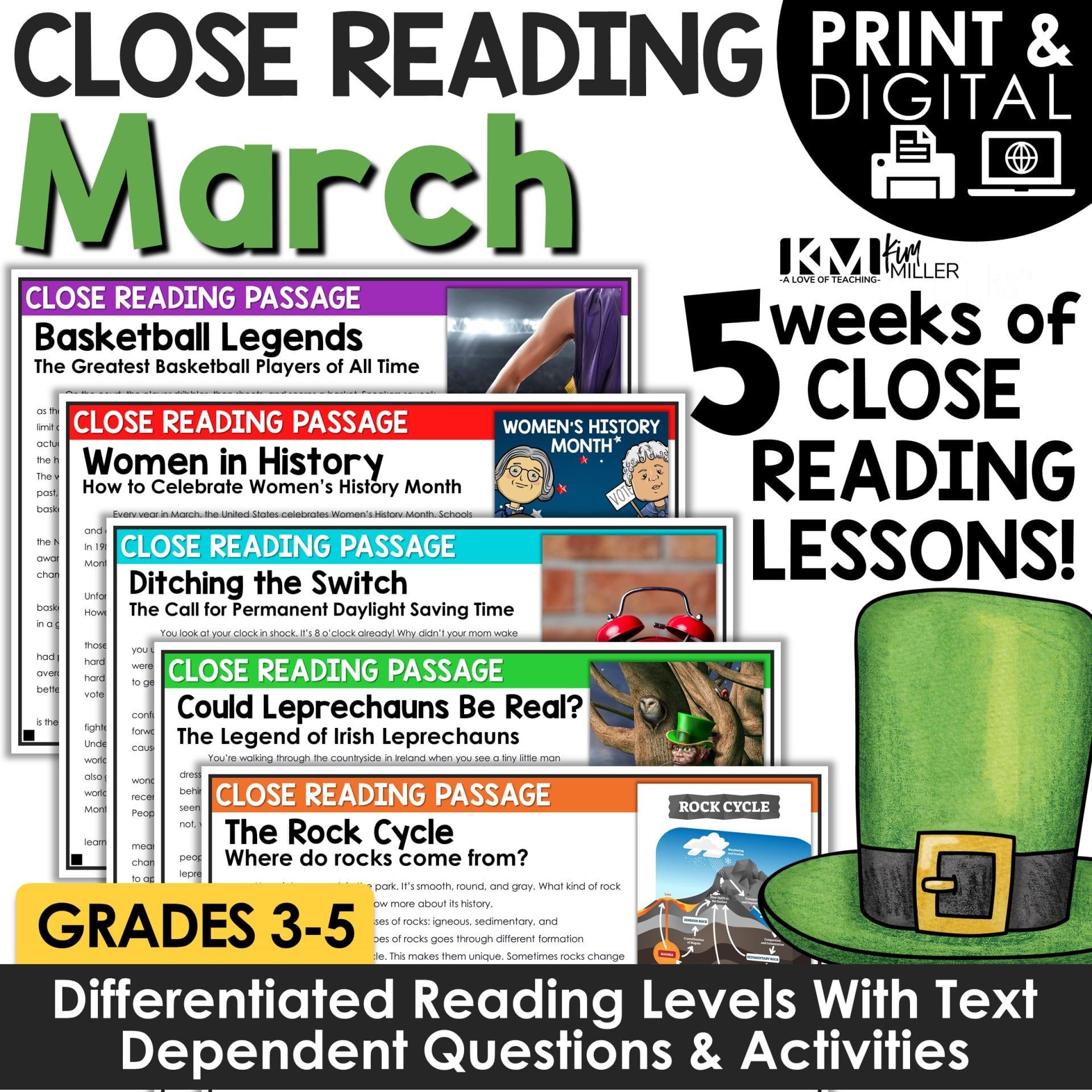 March Close Reading Bundle