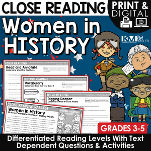 Women in History Close Reading