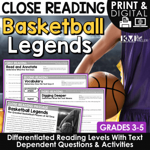 Basketball Legends Close Reading