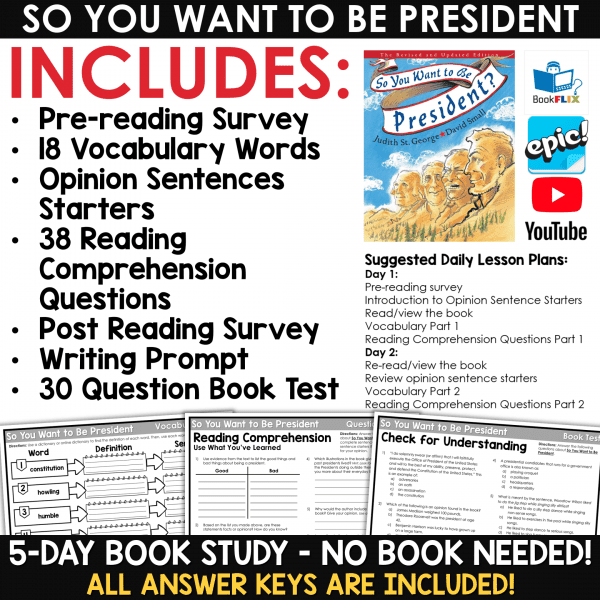Presidents' Day Activities for the Classroom