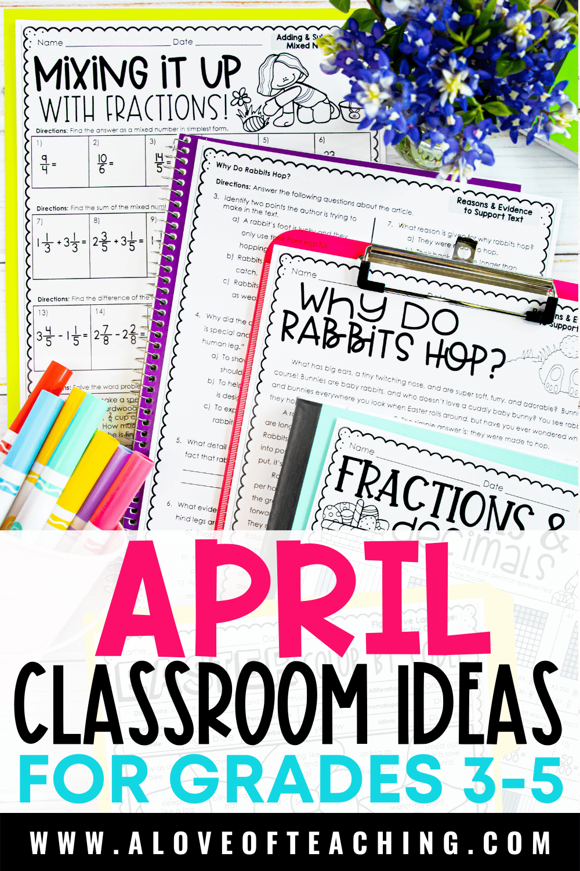 April Activities for Grades 3-5
