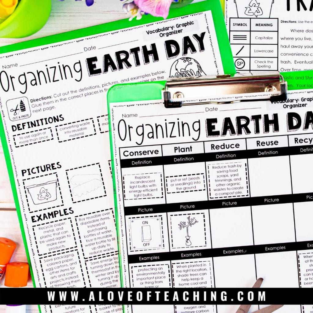 Engage your students with the EArth Day holiday and get them reviewing math and reading skills too