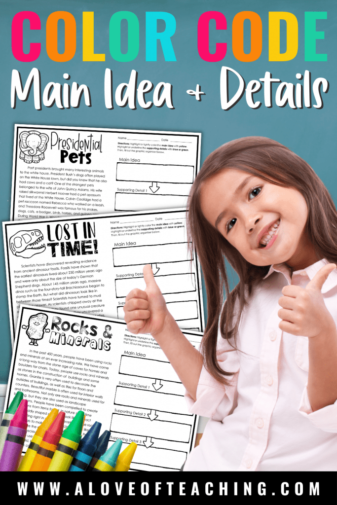 How to Teach Main Idea and Details