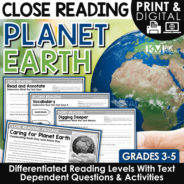 Earth Day Close Reading Passages