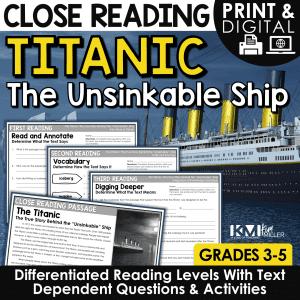 Titanic Close Reading Passages