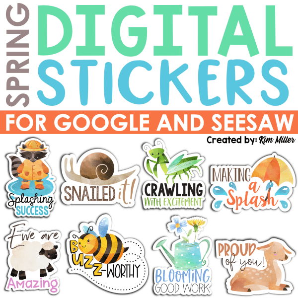 Spring Digital Stickers
