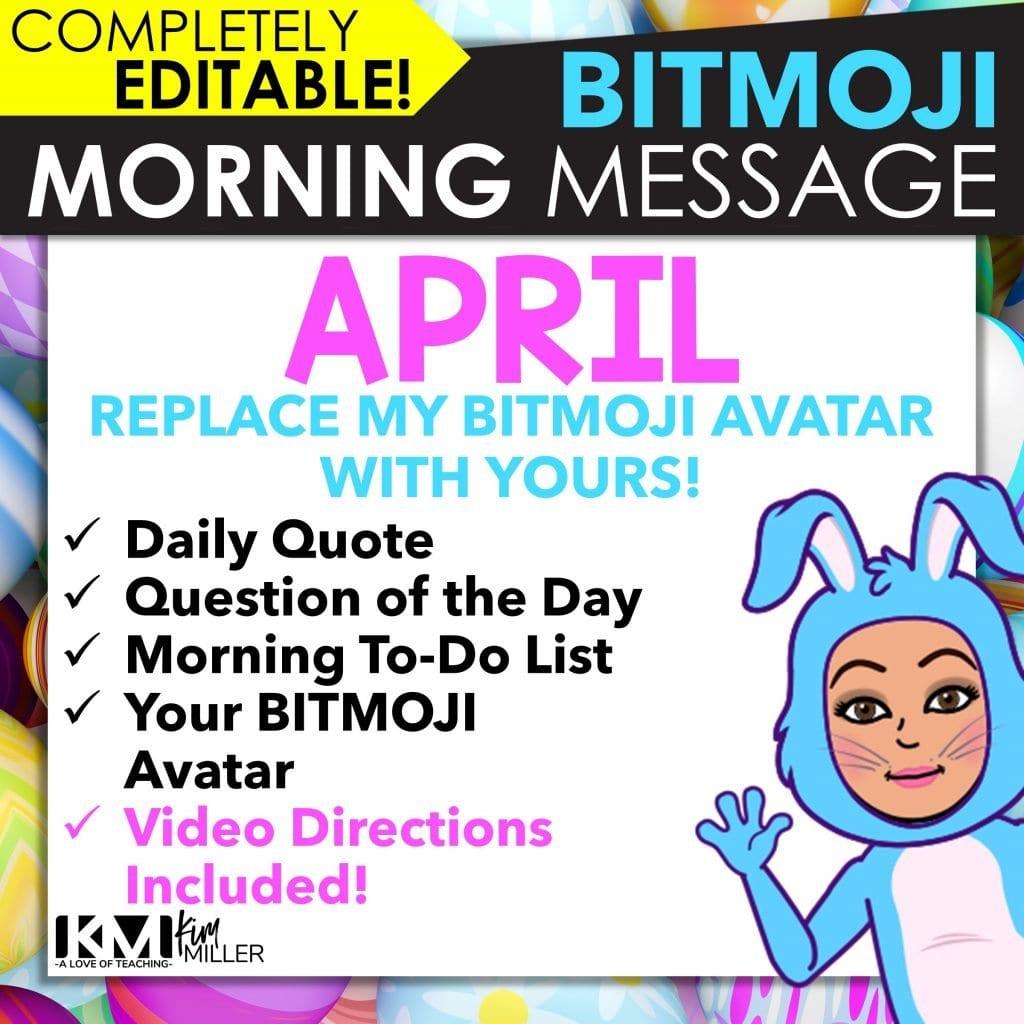 BITMOJI April Morning Meeting Slides