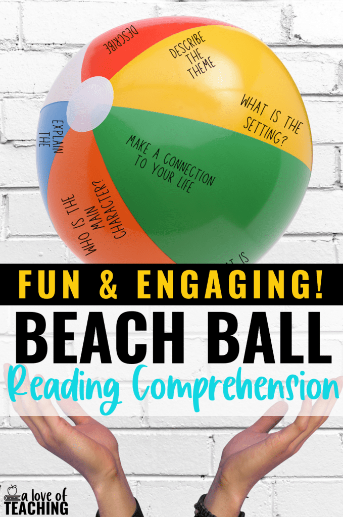 Fun Reading review activities: use a beach ball with questions for a fun and engaging reading comprehension activity, game show buzzers in the classroom make answering questions fun, and color by code reading passages make learning fun! Perfect for review before testing!