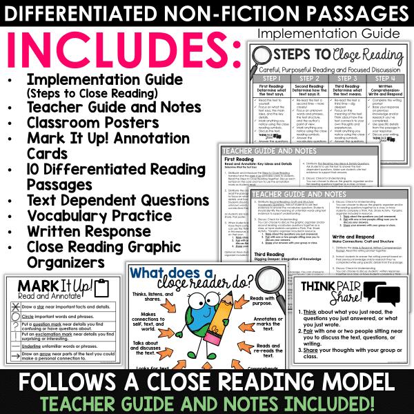 April Close Reading Passages Bundle