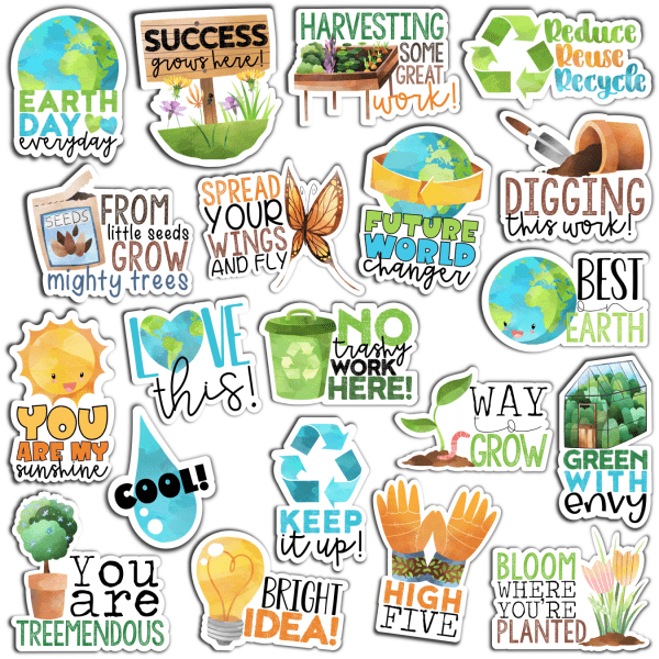 Earth Day Digital Stickers