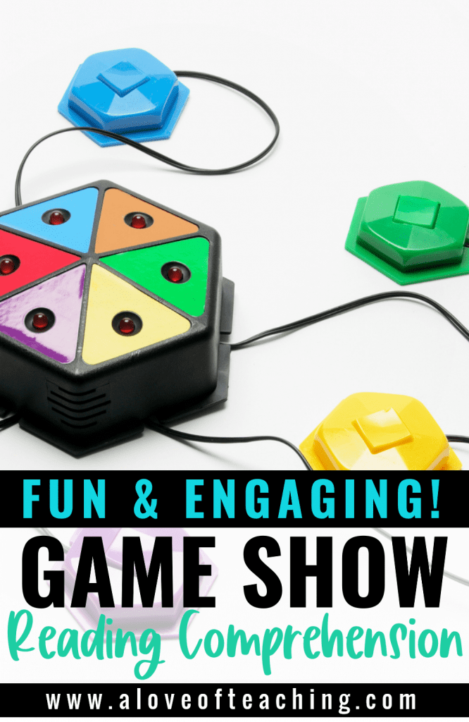 Game show buzzers can make answering questions fun for reading comprehension activities and test prep review in 3rd, 4th, and 5th grades.