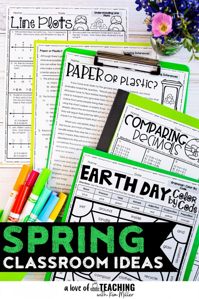 Spring Classroom Ideas for Grades 3-5