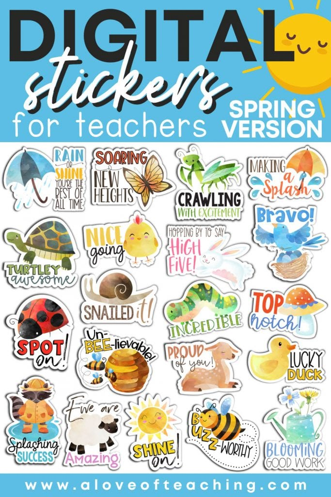 spring digital stickers are easy to use and the perfect grading compliment to your digital assignments
