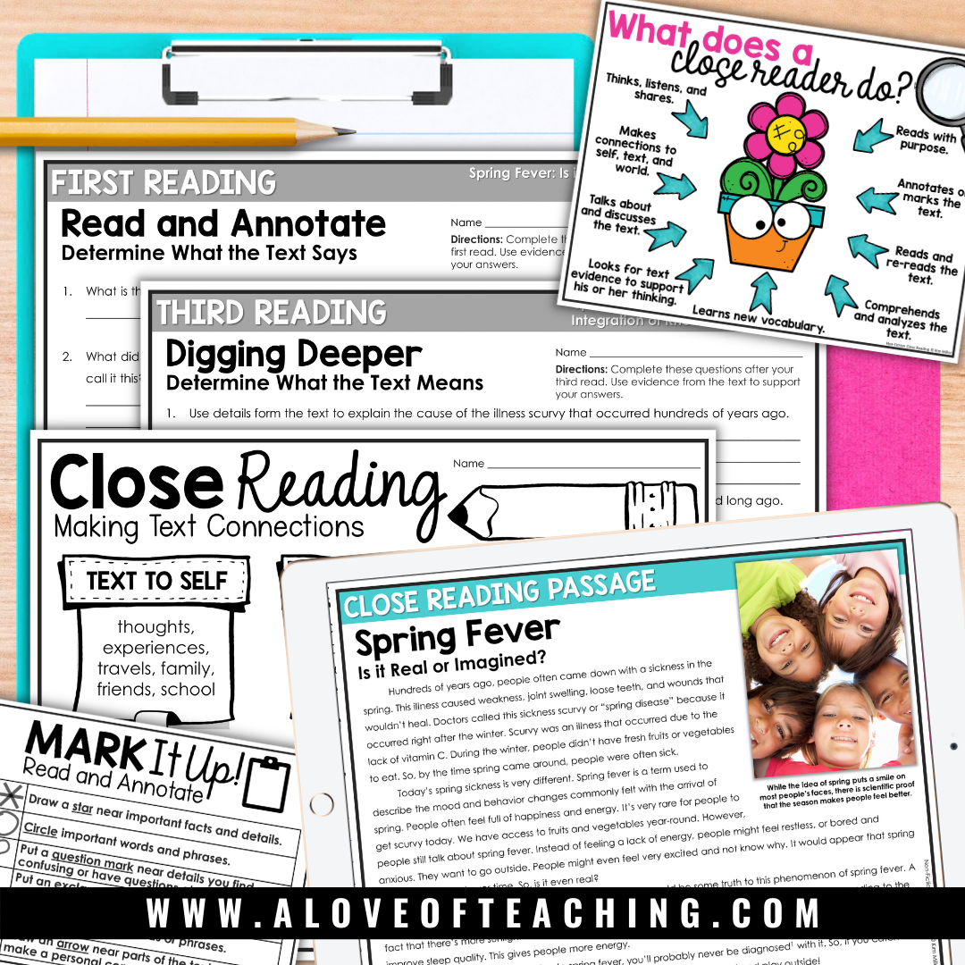 May Close Reads are a great way to help students practice important reading skills before the end of the year