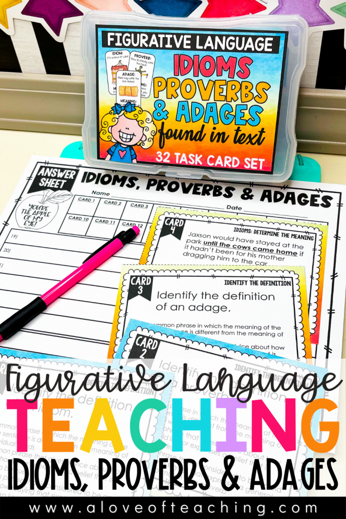 Figurative Language Teaching Idioms, Proverbs, and Adages