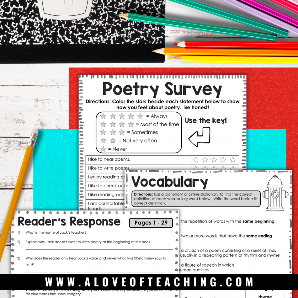 poetry resources and activities for Love that Dog