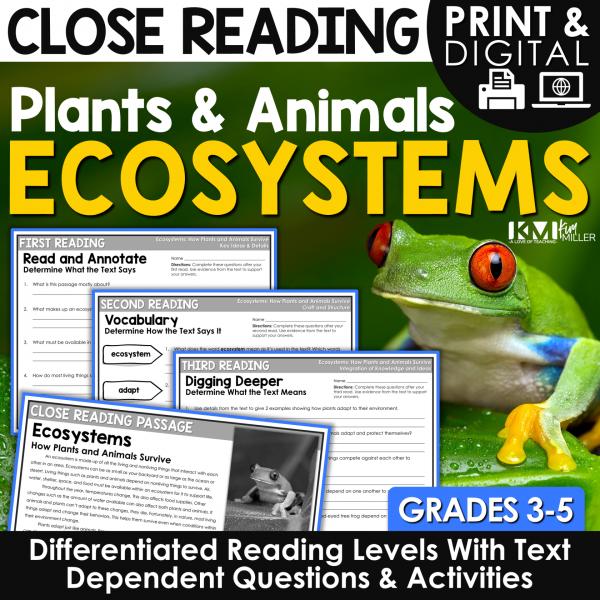Ecosystems Close Reading