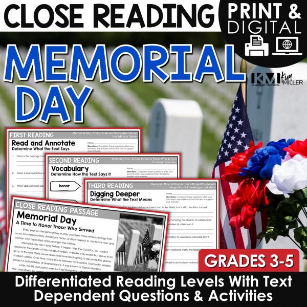 Memorial Day Close Reading