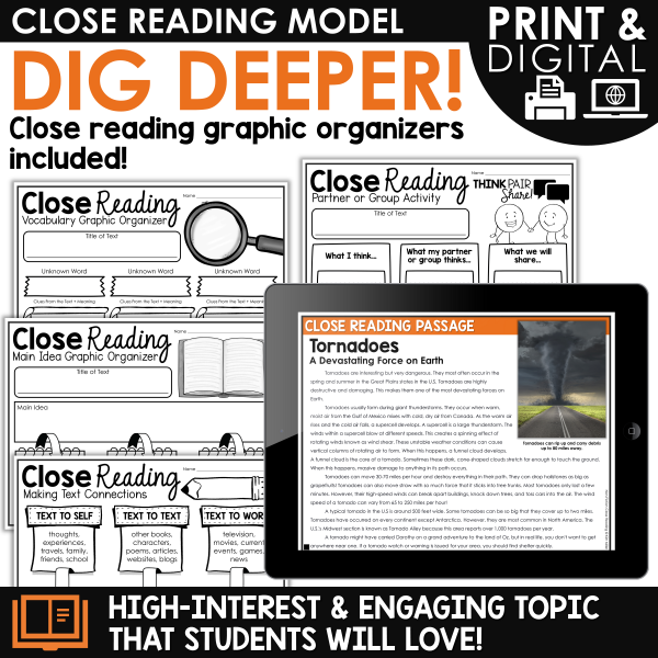 Tornadoes Close Reading