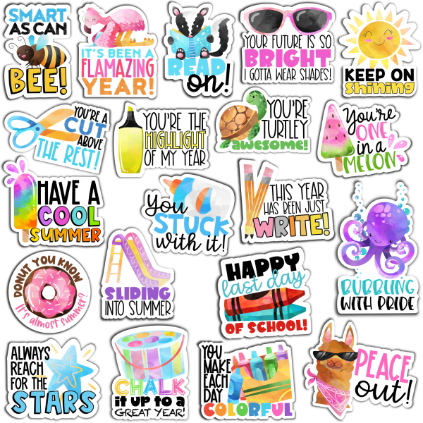 End of Year Digital Stickers