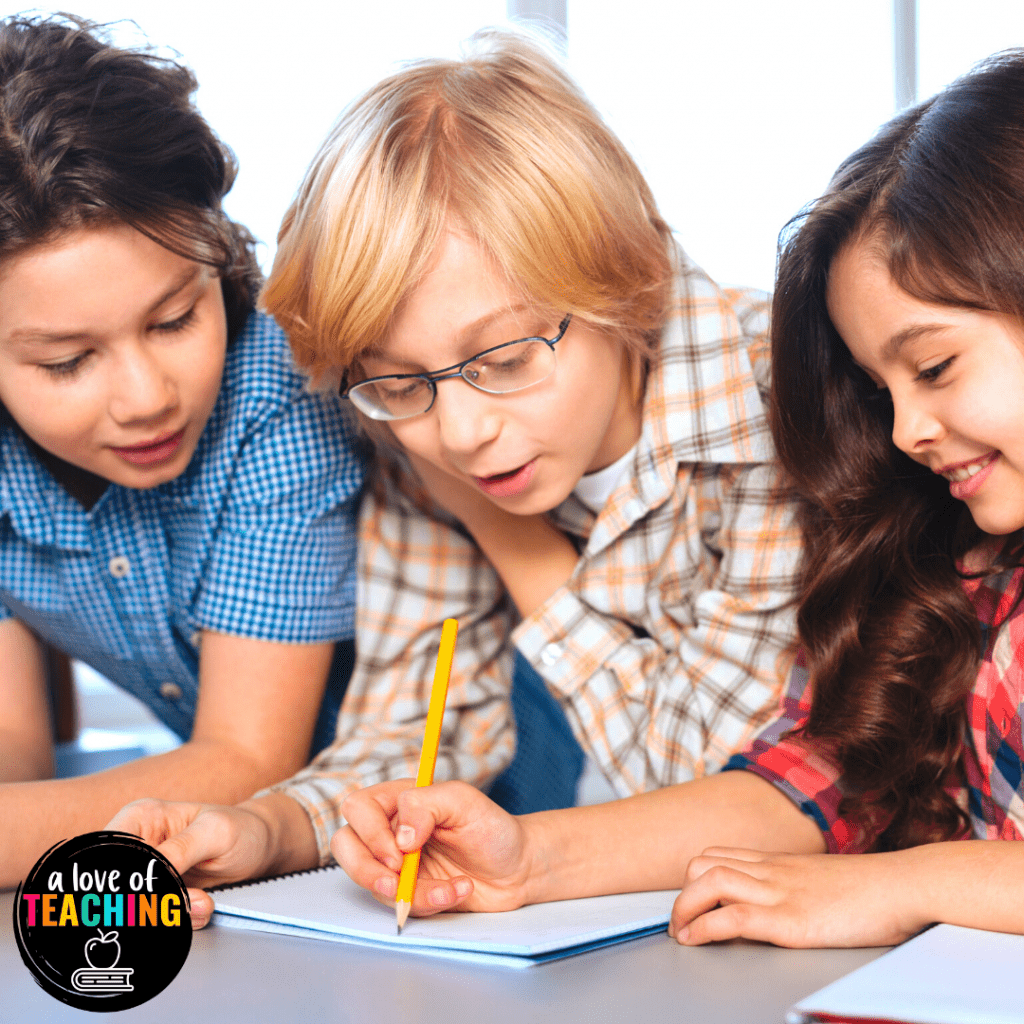 Be sure to give your students time to discuss their prior knowledge with their peers when learning about figurative language.