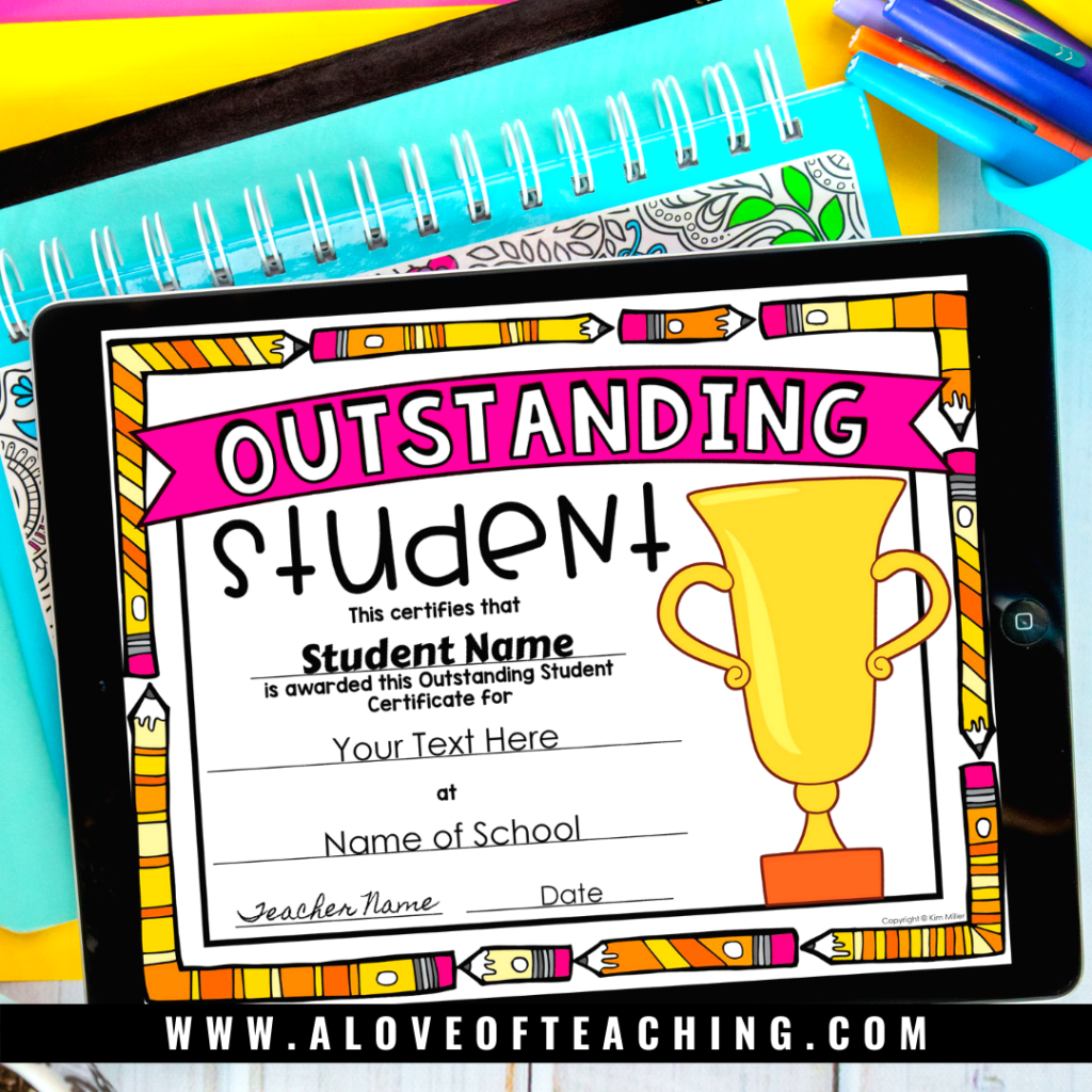 Use these fun colorful end of the year award certificates to celebrate your students.